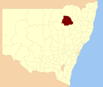 Narrabri Shire - Location in New South Wales