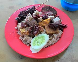 Nasi campur - Nasi campur, Chinese Indonesian version