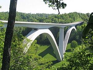 Natchez Trace Parkway Bridge - The Natchez Trace Parkway Bridge, viewed from the north