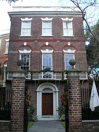 Nathaniel Russell House - Image: Nathaniel Russell House (Front Façade)