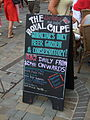 National Day, sandwich board, The Royal Calpe, Main Street, Gibraltar.jpg