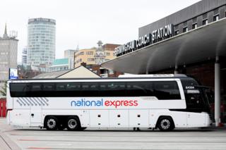 National Express Transport company headquartered in Birmingham, England