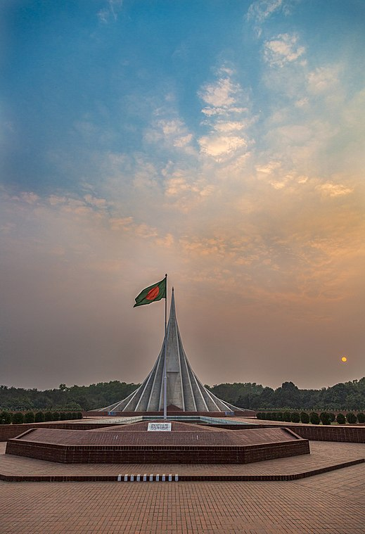 National Martyr's Memorial in Dhaka, built on memories of the martyrs of Bangladesh Liberation War. National Martyrs' Memorial 2.jpg