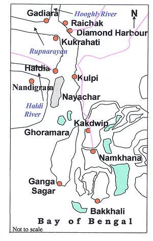 Bakkhali - Image: Nayachar Map