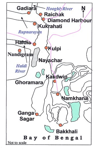 Nandigram - Image: Nayachar Map