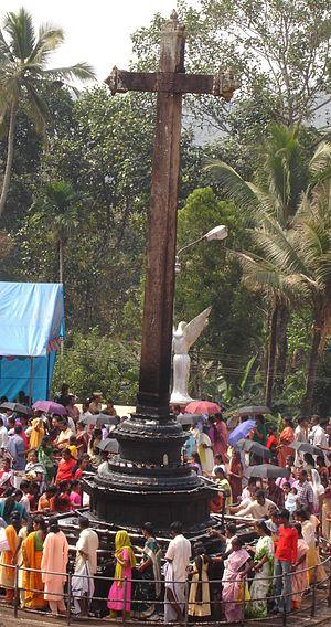 Kuravilangad - Cross in front of the Marth Mariam Syro- Malabar Catholic Church