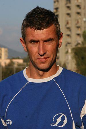 Nedim Halilović - Image: Nedim Halilovic with Dinamo Tirana