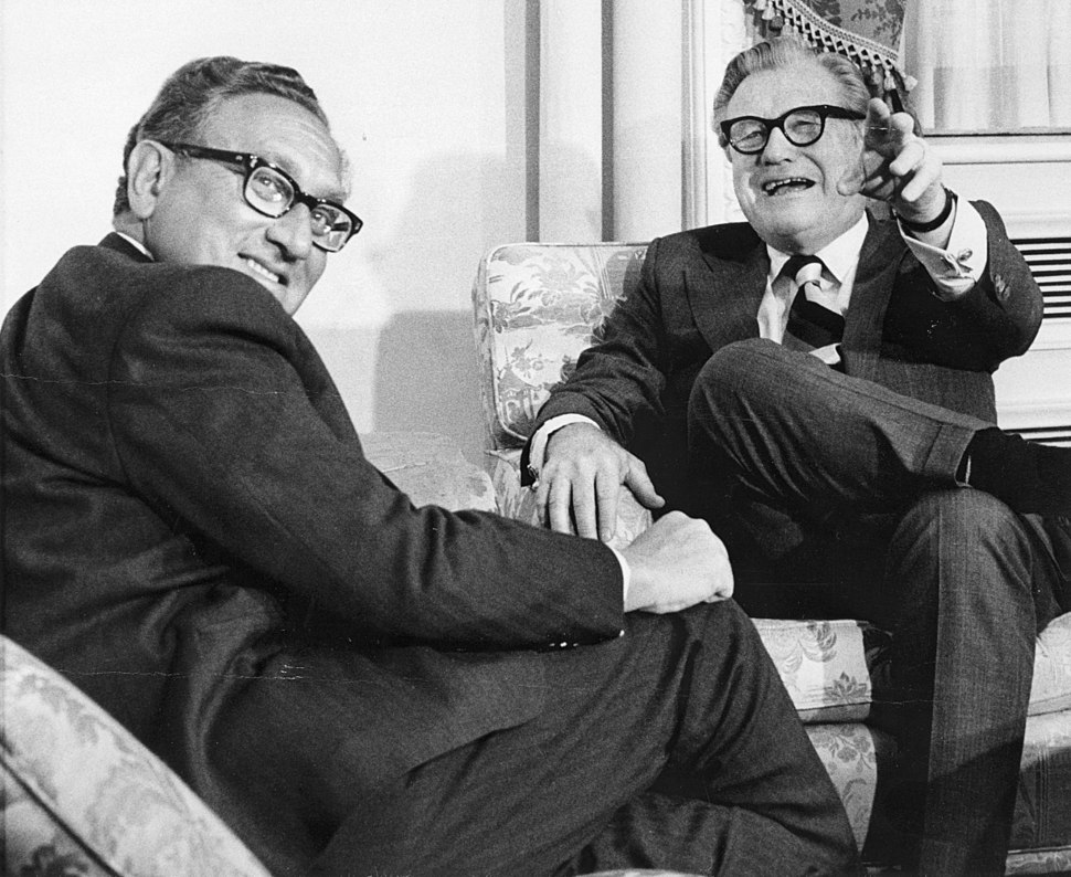Nelson Rockefeller with Henry Kissinger January 3, 1975