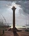 Nerly Friedrich Markussäule i Venedig b Mondschein Landesmuseum Hannover.JPG