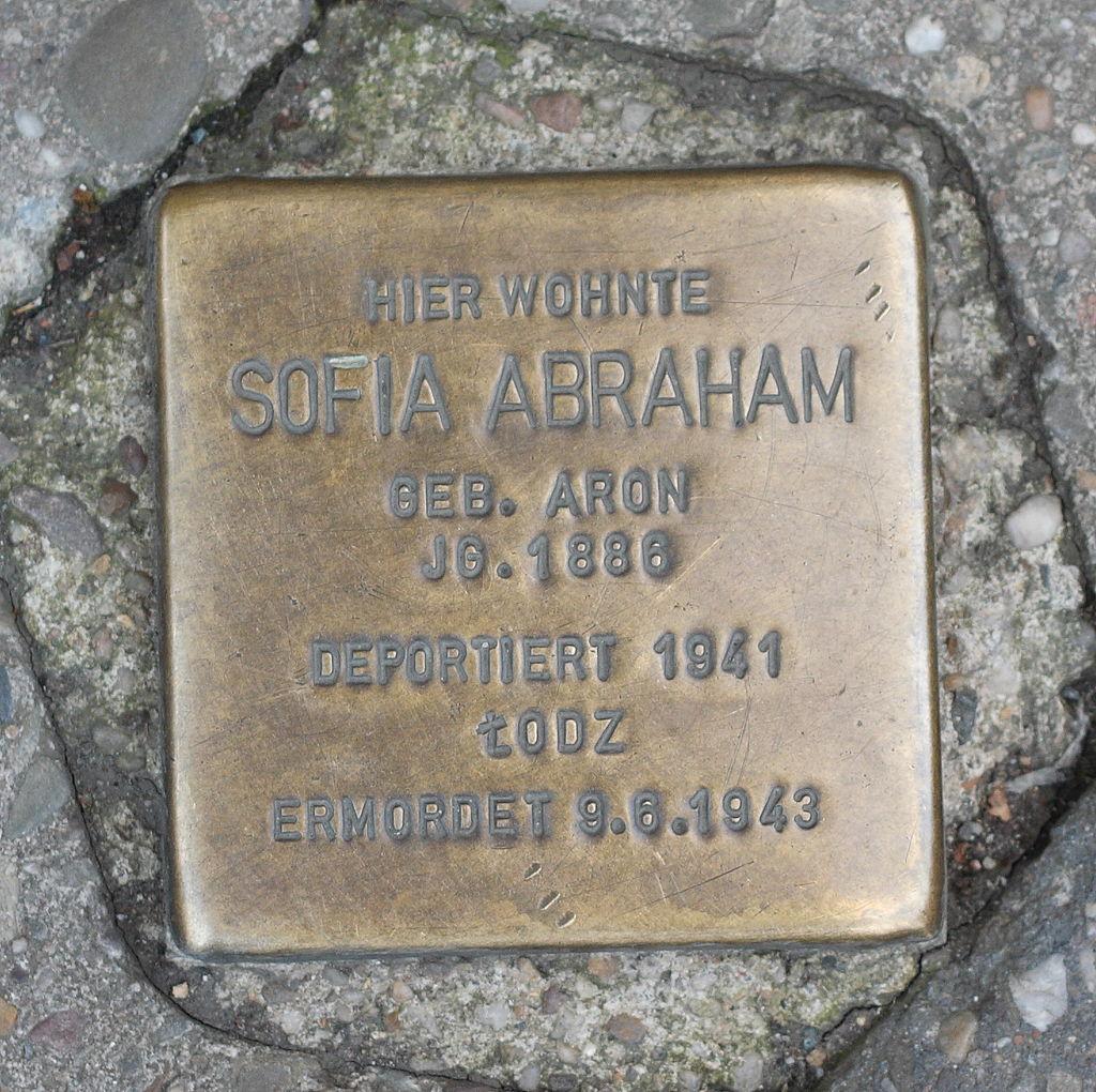 Neuwied Stolperstein Sofia Abraham geb.Aron502.JPG