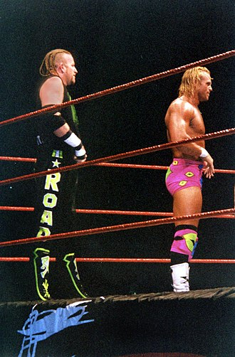 "Billy Gunn - ""Road Dogg"" Jesse James and ""Badd Ass"" Billy Gunn (right) in 1999"