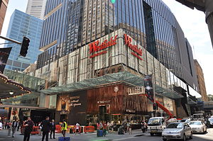 Westfield Sydney - Exterior of Westfield Sydney viewed from Castlereagh Street