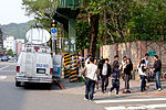 News Reporters and ETTV News SNG Van at Section 1, Huanshan Road, Neihu District, Taipei 20160330.jpg