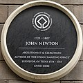 Newton plaque, Orleans House, Liverpool.jpg