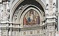 Niccolò Barabino's mosaic, central portal, Basilica di Santa Maria del Fiore (Florence) (3857066823).jpg