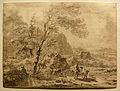 Nicolaes Pietersz. Berchem - Zuidelijk landschap met figuren bij een meer.jpg