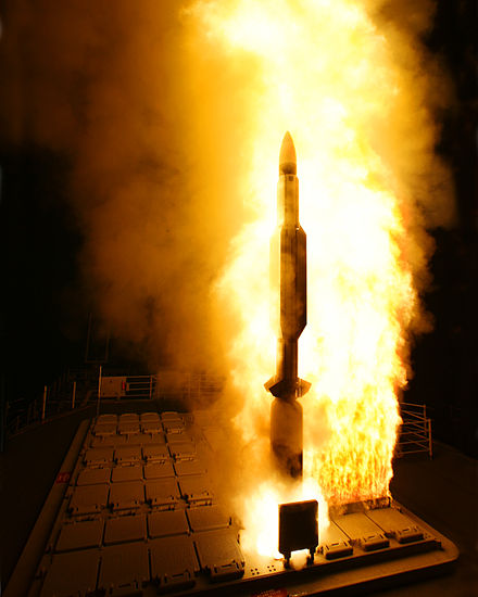 Long-range SAMs like the RIM-161 are an important part of modern naval forces Night launch of a RIM-161 Standard SM-3.jpg