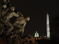 Night view of Washington Monuments.JPG