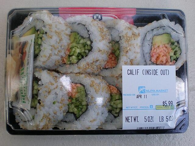 Mmm! California rolls. Or not.
