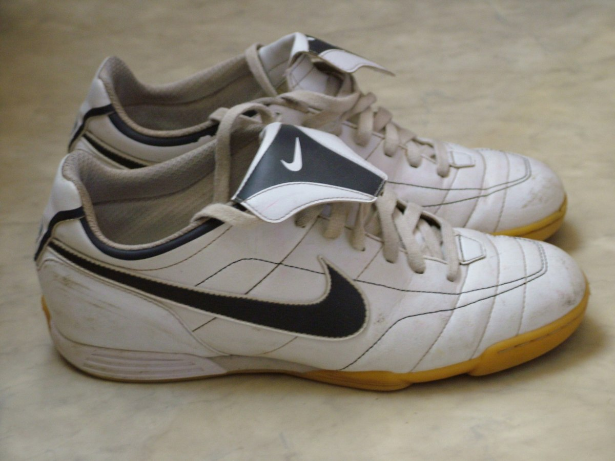 White Nike Shoes With Black Laces