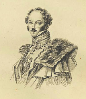 Nikolai Bodisko - Nikolai Bodisko. Drawing by Maria Röhl (1827).
