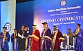 Nitin Gadkari presenting the graduation certificate to a student of India Maritime University at the Second Convocation Day Celebration of Indian Maritime University.jpg