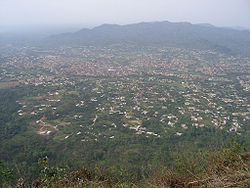 Nkawkaw as seen from hills