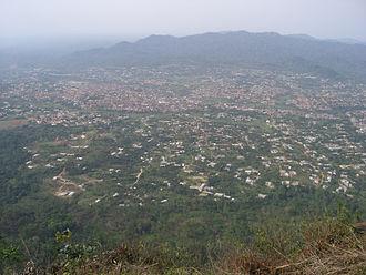 Nkawkaw - Nkawkaw as seen from hills