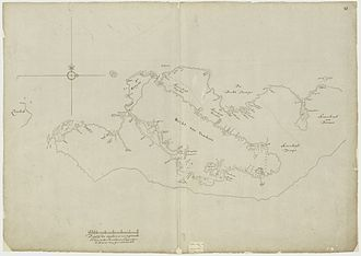 Sumbawa - Historic map of the northern coast of  Sumbawa, 1681