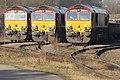 No.66076, 66090 & 66172 Paul Meleny (Class 66) (6696897881) (2).jpg