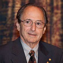 Nobel Prize Laureate Michael Levitt during press conference in Stockholm, December 2013.