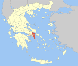 Location of East Attica within Greece