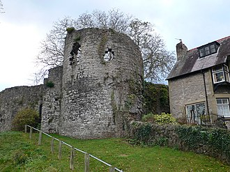 Denbigh Castle and town walls - The North-Eastern Tower on the town walls