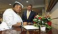 Nosiviwe Mapisa-Nqakula signs Pentagon guestbook.jpg