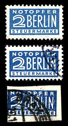 Steuermarke Notopfer Berlin Wikipedia
