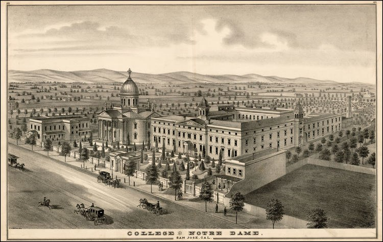 Notre Dame San Jose in 1876