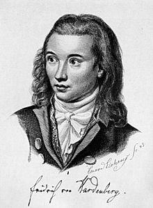 Novalis, Stahlstich von Friedrich Eduard Eichens (1845) Quelle: Wikipedia