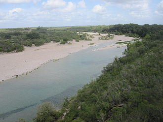 Nueces River - U.S. Highway 83 crosses the Nueces River in northern Zavala County between La Pryor and Uvalde, Texas.