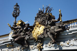 Pont Alexandre III - Nymphs of the Neva relief.