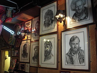 The Dubliners - A wall in O'Donoghue's dedicated to The Dubliners.
