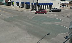 O'Neill, Nebraska pavement shamrock 1.JPG