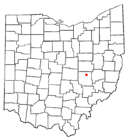 Location of Adamsville, Ohio