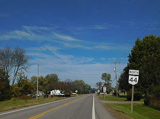 Ohio State Route 44 - SR 44 north from SR 43 in Waynesburg