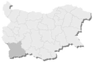 1st MMC – Blagoevgrad - Map of Bulgaria, 1st MMC - Blagoevgrad is highlighted