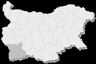 1st MMC – Blagoevgrad - Map of Bulgaria, 1st MMC - Blagoevgrad is highlighted