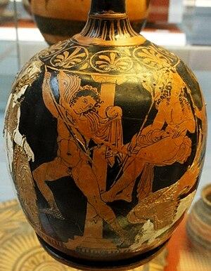 Oedipus - Image: Oedipus Sphinx BM Vase E696