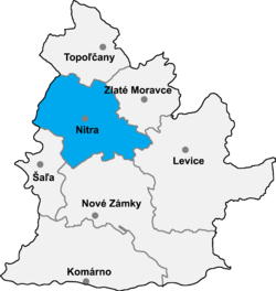 Location of Nitra apriņķis