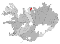 Location of the former Municipality of Ólafsfjarðarbaer