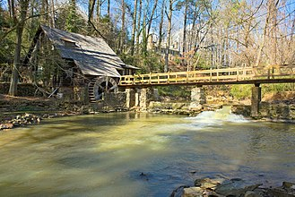 """Mountain Brook, Alabama - The """"Old Mill"""" on Shades Creek"""