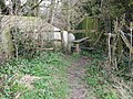 Old stile and squeeze posts at Plumpton - geograph.org.uk - 1768931.jpg